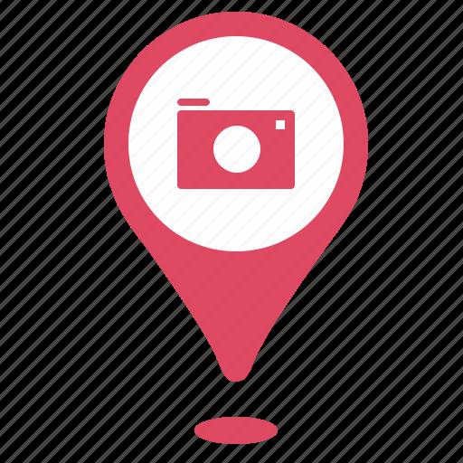 camera, geo, photo, point, pointer, shot icon