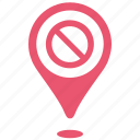 closed, geo, over, place, pointer, shop, time icon