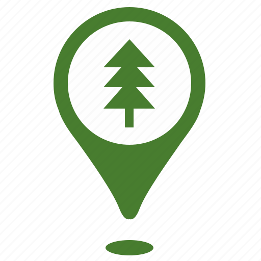 fir, forest, geo, place, point, pointer, position icon