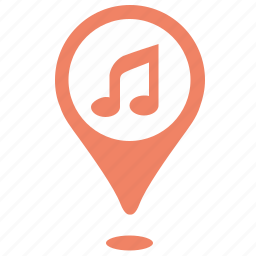 acoustic, geo, music, party, point, pointer, sound icon