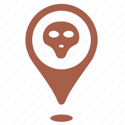 death, geo, head, location, place, point, skull icon