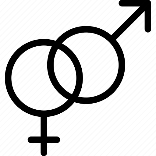 hetero, sex, sexuality, sign icon