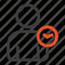 basic, man, time, user icon