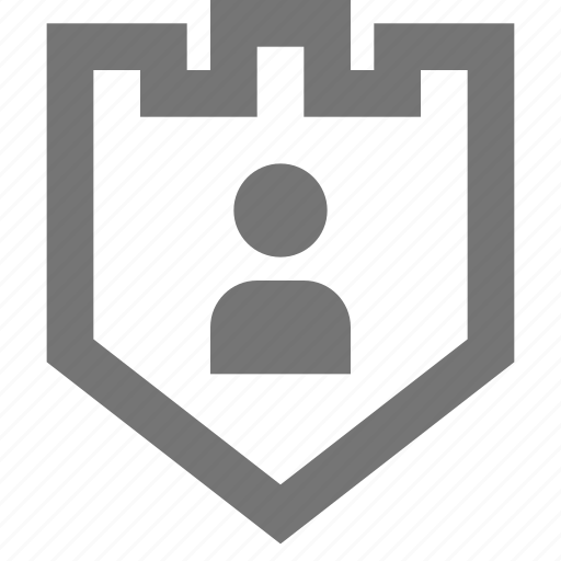 account, material, protection, security, shield, social, user icon
