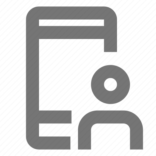 account, action, material, mobile, networking, social, user icon