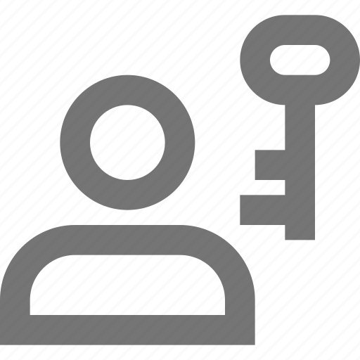 account, key, lock, material, social, user icon