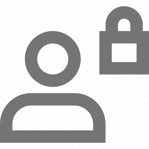 account, material, protection, safe, security, social, user icon