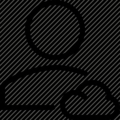 account, cloud, profile, user icon