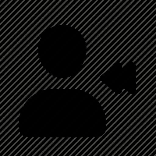 action, pix, profile, rewind, user, utilizador icon