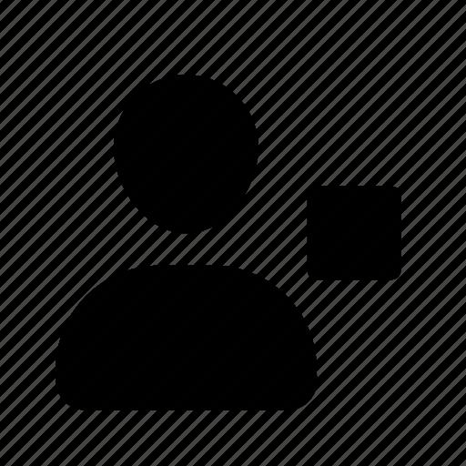 action, pix, profile, stop, user, utilizador icon