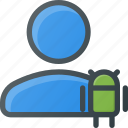 action, android, people, user icon
