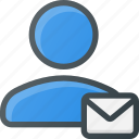 action, email, people, user icon