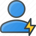 fast, people, user icon