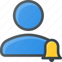 action, bell, people, reminder, user icon