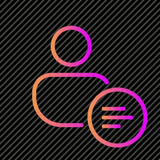 alignment, left alignment, list, main menu, menu, sub menu icon
