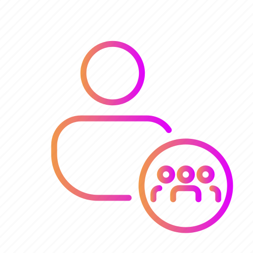 brainstrom, connection, contacts, discussion, followers, network, people icon