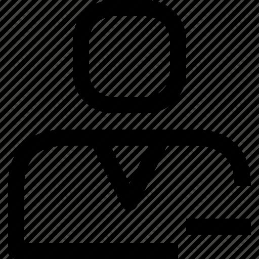 avatar, face, people, person, profile, remove, user icon