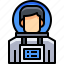 astronaut, avatar, male, man, people, person, user