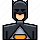 avatar, batman, male, man, people, person, user icon