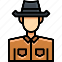 avatar, cowboy, male, man, people, person, user icon