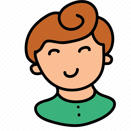 avatar, boy, child, happy, users icon