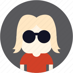 avatar, girl, nerd, user, woman icon