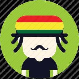 avatar, hip, hippie, jamaican, user icon