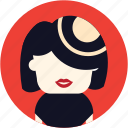 hostes, woman, avatar, user