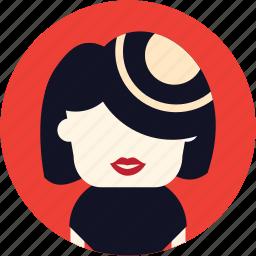 avatar, hostes, user, woman icon