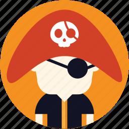 avatar, boy, man, pirate, user icon