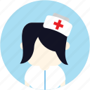 user, medical, woman, avatar, nurse