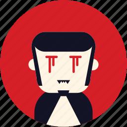 avatar, dracula, man, user, vampire icon