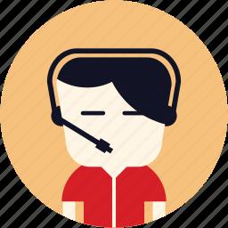 avatar, call centre, contact, customer service, man, secretary, user icon