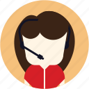 avatar, call centre, contact, customer service, secretary, user, woman icon