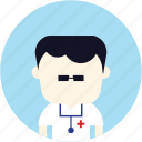 avatar, doctor, man, medical, nurse, user icon