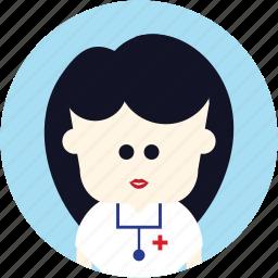avatar, doctor, medical, nurse, user icon