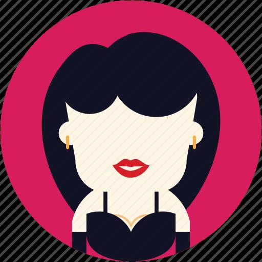 avatar, elegant, party, user, woman icon