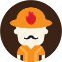 avatar, fire fighter, fireman, user icon