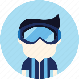 avatar, diver, man, scuba, sports, user icon