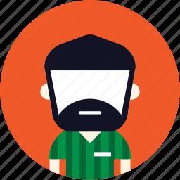 avatar, beard, man, user icon
