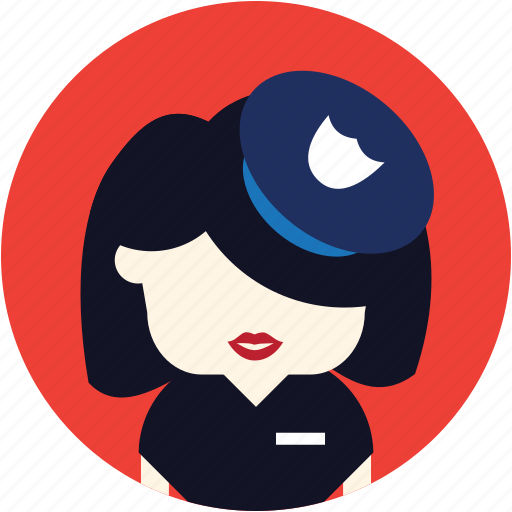 avatar, police, security, user, woman icon