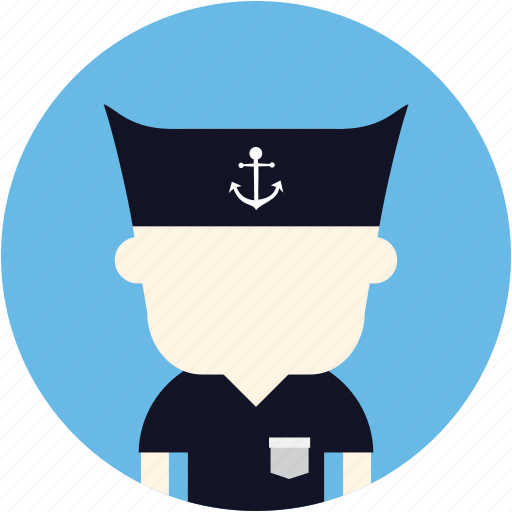 avatar, man, sailor, user icon