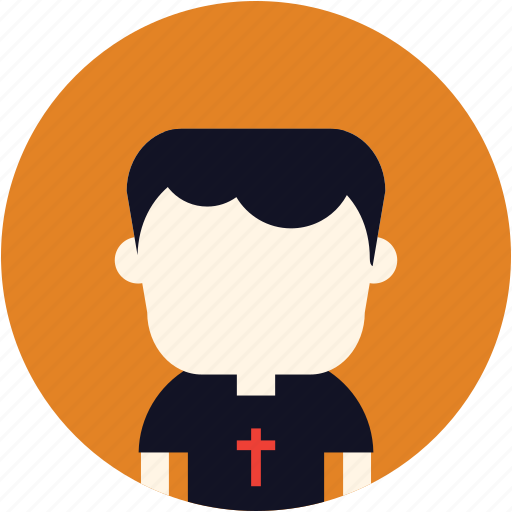 avatar, christian, priest, user icon
