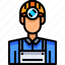 avatar, male, man, miner, people, person, user icon