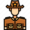 avatar, male, man, people, person, sheriff, user icon