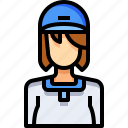 avatar, baseball, female, people, person, user, woman icon