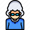 avatar, female, lady, old, people, person, woman icon