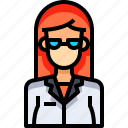 avatar, doctor, female, people, person, user, woman icon