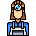 avatar, female, miner, people, person, user, woman