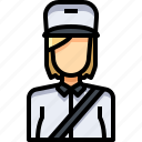 avatar, female, people, person, postwoman, user, woman